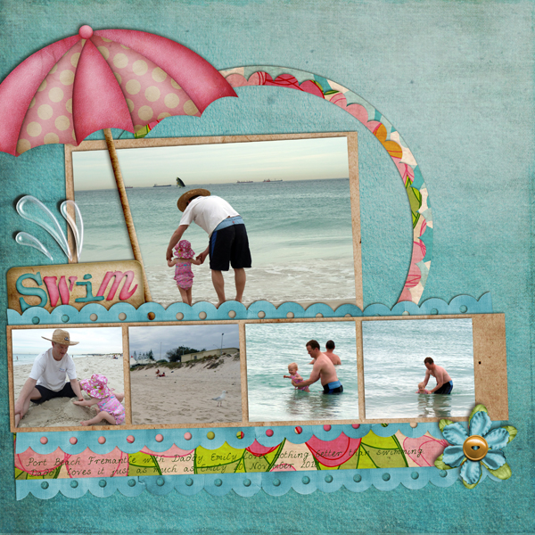 how to use a digital scrapbook template