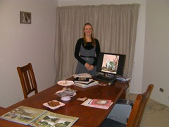 Perth digital scrapbooking workshops: the set up