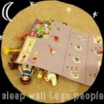 Emily put her #lego people to bed for the night  #ABeautifulMess @ktscrapbooklady you'll appreciate this :)