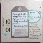 #30lists Meaningful gifts given and received
