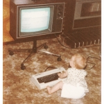 #tbt Working on my digi skills at 8 months old #vic20