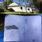 #EmilyCeleste observation drawing of Cockman House @cityofwanneroo