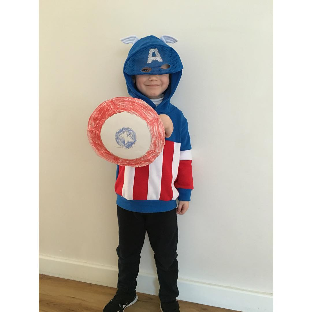 1. A is for... America, well Captain America. #EdwardJames had superhero day at football (AFL) and #EmilyCeleste made him this shield completely off her own bat! So sweet ? and he loved it!  #fms_Aisfor #fmsphotoaday #littlemomentsapp