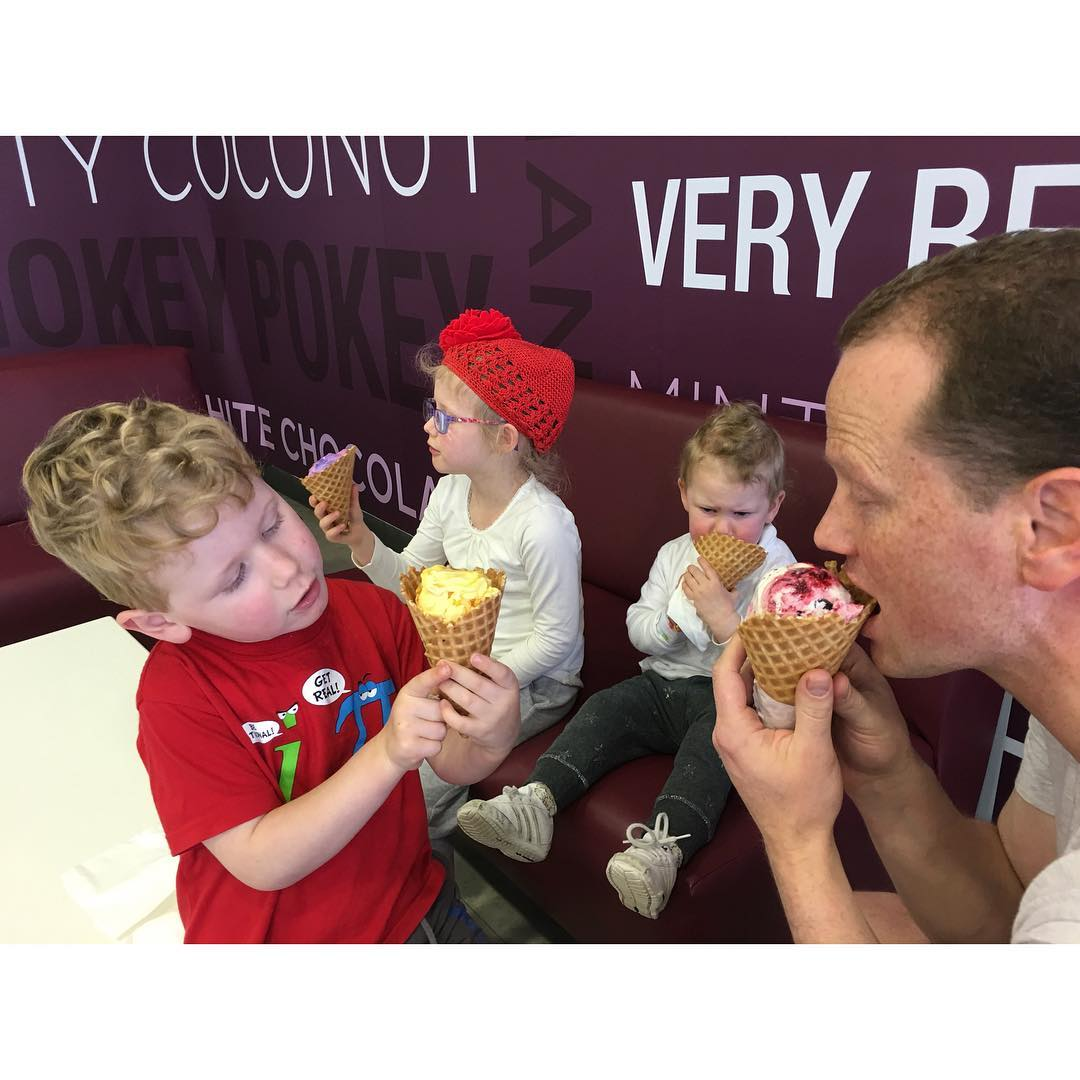 30. FOUR eating their first @BaskinRobbins #fms_four #fmsphotoaday #littlemomentsapp